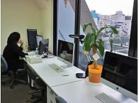 就業スペース(一部)です! 今は狭いですが今後オフィス移転も検討。